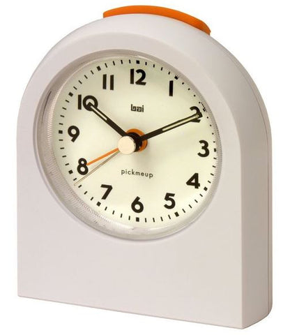 Pick Me Up White Alarm Clock