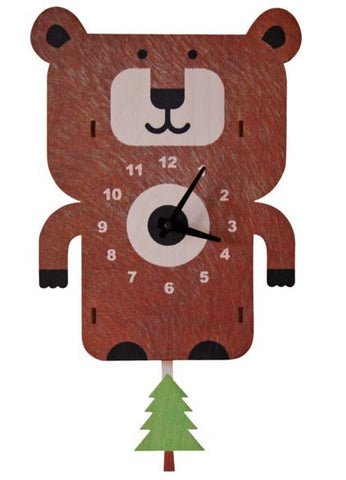 Bear Pendulum Wall Clock