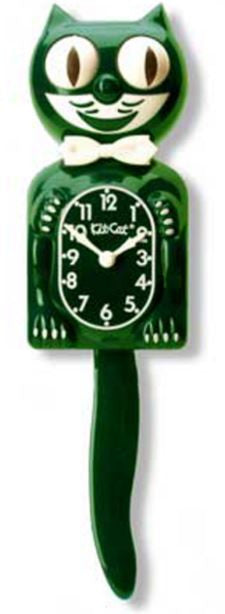 Hunter Green Gentlemen's Kit-Cat Clock
