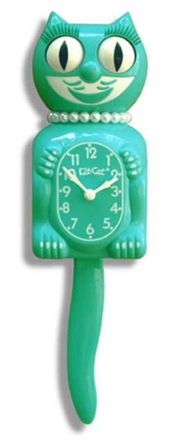 Emerald Green Ladies Kit-Cat Clock