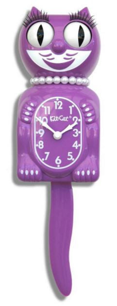 Radiant Orchid Ladies Kit-Cat Pedulum Wall Clock