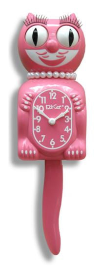Strawberry Ice Ladies Kit-Cat Pendulum Wall Clock