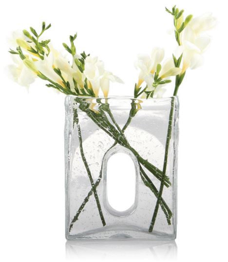 Bliss Large Square Clear Vase