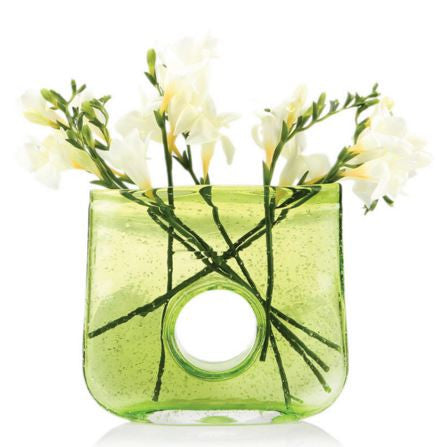 Bliss Rectangle Green Vase