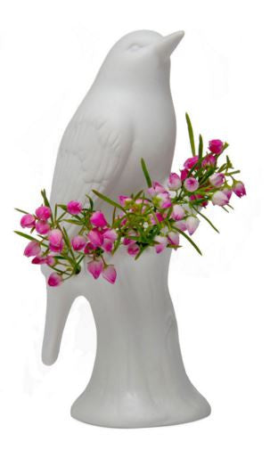 Grey Porcelain Bird Vase