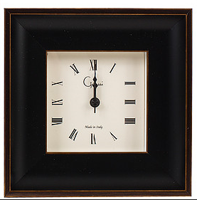 Black with Gold Picture Frame Alarm Clock