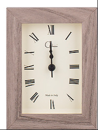 Weathered Grey Picture Frame Alarm Clock