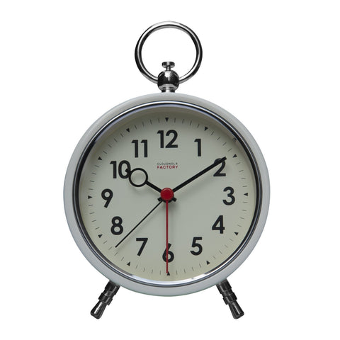 Ivory Metal Case Alarm Clock