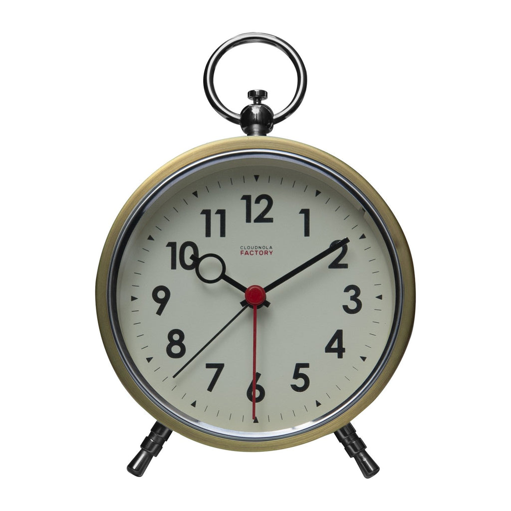 Brushed Gold Metal Case Alarm Clock