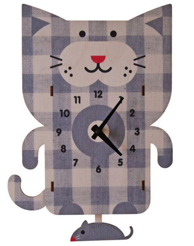 Cat Pendulum Wall Clock