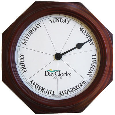 Mahogany Day Wall Clock