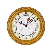 Small Contemporary Oak Day Wall Clock