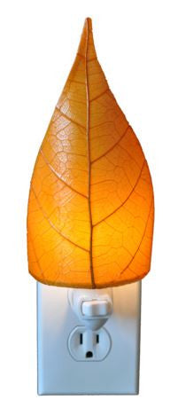 Orange Real Leaves, Fair-trade, Sustainable, Night Light