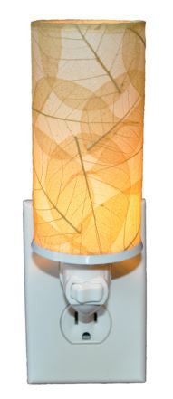 Natural Cylinder Real Leaves, Fair-trade, Sustainable, Night Light
