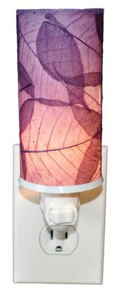 Purple Cylinder Real Leaves, Fair-trade, Sustainable, Night Light