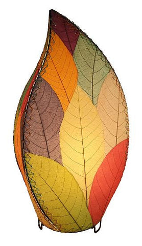 Outdoor / Indoor Real Leaf, Sustainable, Multi-color Table Lamp