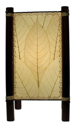 Natural Fortune Real Leaves, Fair-trade, Sustainable, Table Lamp