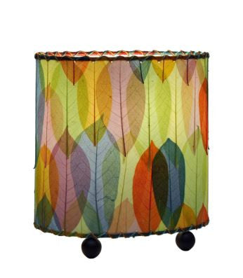 Multicolor Mini Guyabano Real Leaves, Fair-trade, Sustainable, Table Lamp