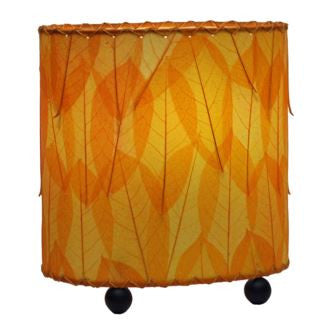 Orange Mini Guyabano Real Leaves, Fair-trade, Sustainable, Lamp