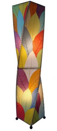 Multicolor Giant Twist, Real Leaves, Fair-trade, Sustainable, Floor Lamp