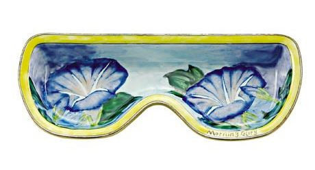 Blue Morning Glory Eyeglass Holder