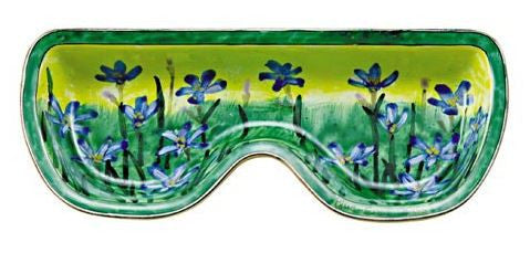 Blue Flowers Eyeglass Holder