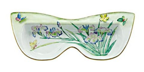 Iris Eyeglass Holder with 3 Dimensional Butterfly & Flower