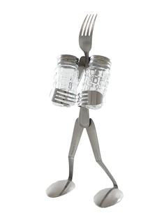 Recycled Fork Salt & Pepper Stand