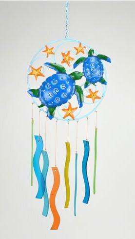 Turtles & Starfish Sea-Glass Wind Chime