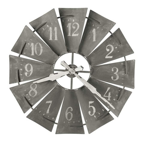 Windmill Metal Wall Clock