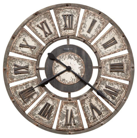 Edon Galvanized Metal Wall Clock