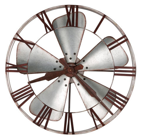 Mill Shop Metal Wall Clock