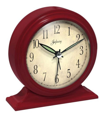 Boutique Red Table Clock