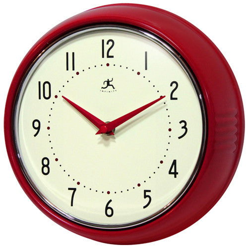 Retro Red Wall Clock