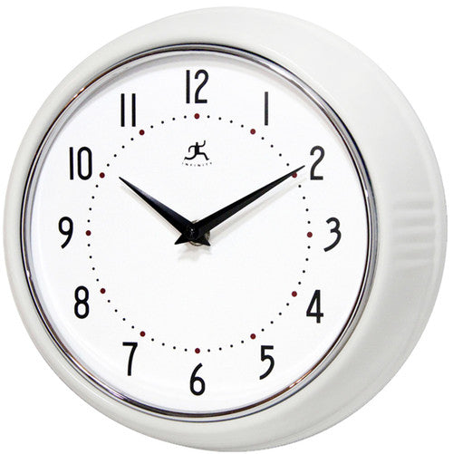 Retro White Wall Clock