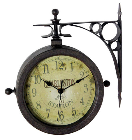 The Charleston Indoor / Outdoor Double Sided Clock