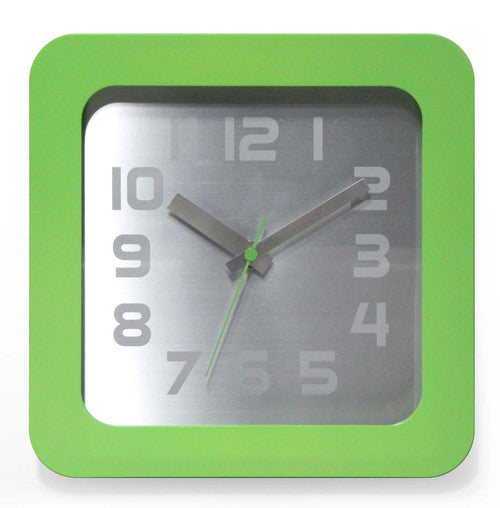 Times Squared Green Wall / Table Clock