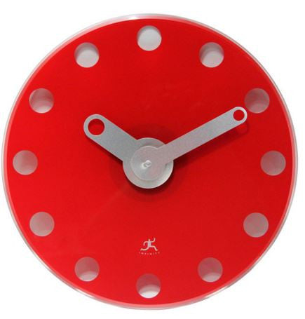 Accent Red Wall Clock