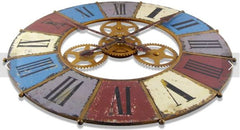 Kaleidoscope With Gears Wall Clock