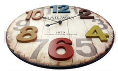Weathered Finished Wall Clock