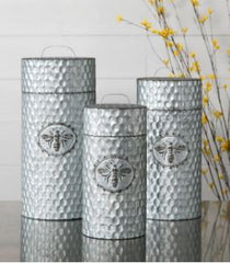 Honeybee Galvanized Container - Large