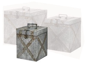 Parry Galvanized Trunk Small