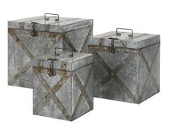 Parry Galvanized Trunk Medium