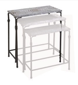Large Gilbert Galvanized Nesting Table