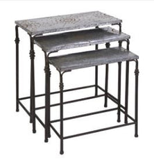 Small Gilbert Galvanized Nesting Table