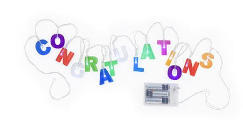 Congratulations Battery Powered String Lights