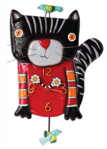 Knitty Kitty Pendulum Wall Clock