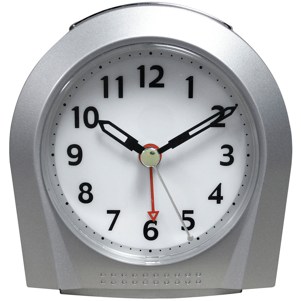 Night Vision Silver Colored Alarm Clock