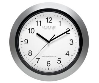 "Silver Atomic 12"" Wall Clock"