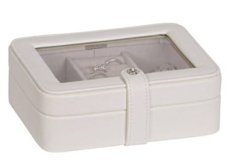 Rio Ivory Glass Top Jewelry Box